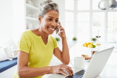 Worksheet Overkill, Woman on Phone