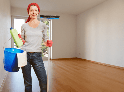 Ageism - Age Discrimination, Woman With Cleaning Supplies