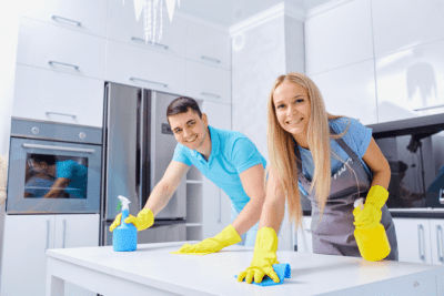 In Business With Your Spouse, Man and Woman Cleanering