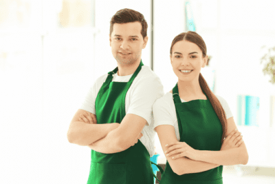 In Business With Your Spouse, Man and Woman House Cleaners