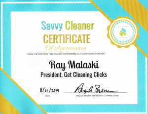 Ray Malaski, Get Cleaning Clicks, Savvy Cleaner Correspondent
