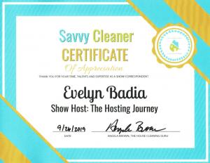 Evelyn Badia, The Hosting Journey, Savvy Cleaner Correspondent