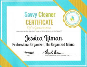 Jessica Litman, The Organized Mama - Savvy Cleaner Correspondent