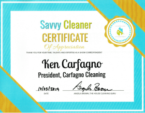 Ken Carfagno, Carfagno Cleaning, Savvy Cleaner Correspondent
