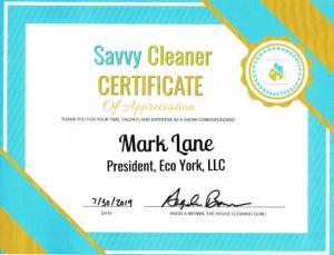 Mark Lane, ECO York, Savvy Cleaner Correspondent
