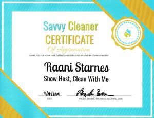 Raani Starnes, Clean With Me - Savvy Cleaner Correspondent