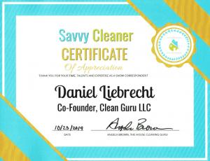Dan Leibrecht, Clean Guru, Savvy Cleaner Correspondent