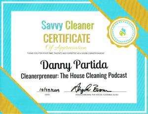 Danny Partida, Cleanerpreneur, Savvy Cleaner Correspondent
