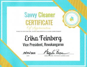 Erika Feinberg, Revukangaroo, Savvy Cleaner Correspondent