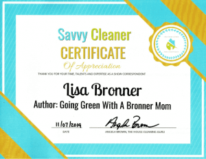 Lisa Bronner, Going Green with a Bronner Mom, Savvy Cleaner Correspondent