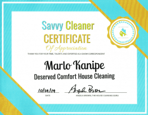 Marlo Kanipe, Deserved Comfort House Cleaning, Savvy Cleaner Correspondent
