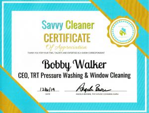 Bobby Walker, TRT Pressure Washing & Window Cleaning, Savvy Cleaner Correspondent