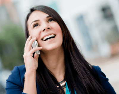 If I Did a Good Job, Smiling Woman on the Phone