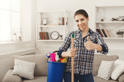 If I Did a Good Job, Woman Cleaning