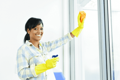 If I Did a Good Job, Woman Cleaning Windows