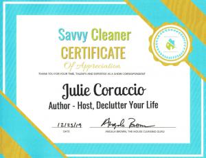 Julie Coraccio, Reawaken Your Brilliance, Savvy Cleaner Correspondents