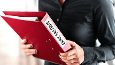 SDS Safety Data Sheets, Woman Holding SDS Binder