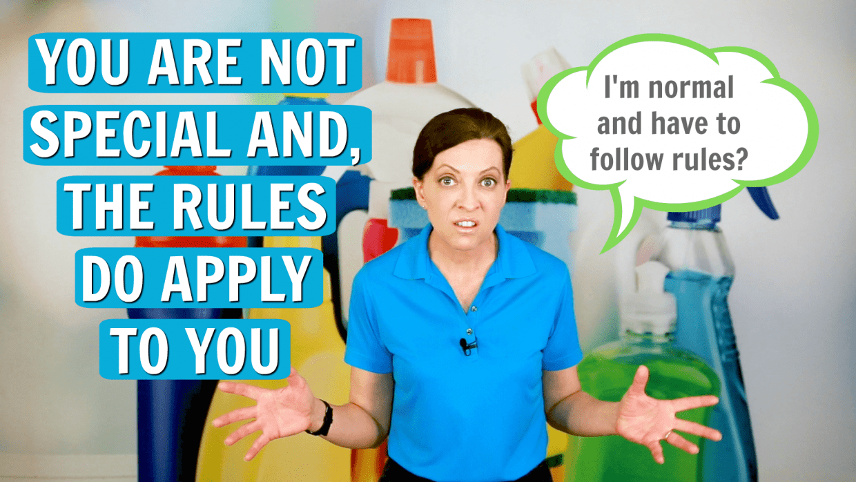 The Rules Do Apply to You, Angela Brown, Ask a House Cleaner