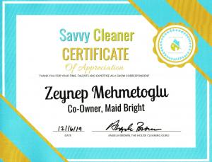Zeynep Mehmetoglu, Maid Bright, Savvy Cleaner Correspondent
