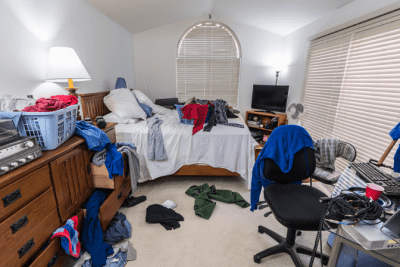 Charge by the Room, Messy Bedroom