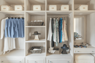 Clean Around Lived In, Organized Closet