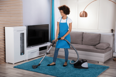 Cleaning Relaxes Me Should I Start a Business, Woman Vacuuming