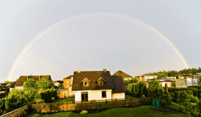 Compliments and Complaints, Rainbow Over House