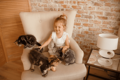 Dust Where Does it Come From, Little Girl With Cats