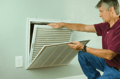 Dust Where Does it Come From, Man Changing Air Filter