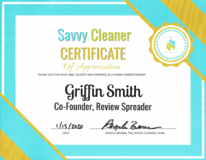 Griffin Smith, Review Spreader, Savvy Cleaner Correspondent