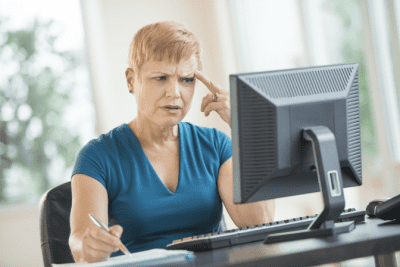 When Flyers Don't Work, Confused Woman on Computer