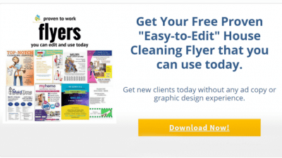 When Flyers Don't Work, Savvy Cleaner Flyers