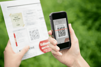 When Flyers Don't Work, Scanning QR Code with Phone