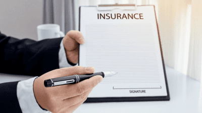 Area Won't Support Cleaning insurance policy on clipboard