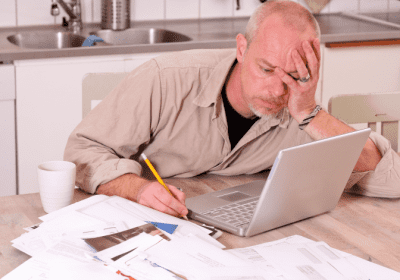 Do You Need a Business Plan, Frustrated Man Paying Bills