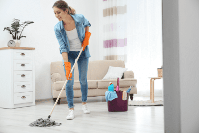 Do You Need a Business Plan, Woman Mopping Floor