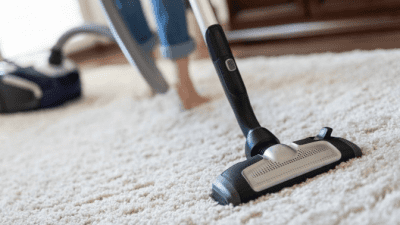 How Early Can I Clean woman vacuuming carpet