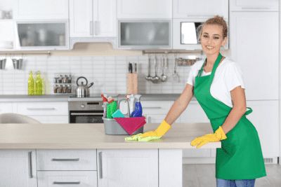 Personal vs. Professional You, Woman Cleaning Kitchen