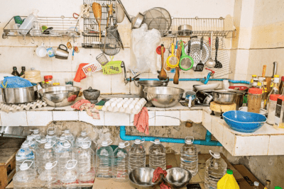 Rates for Hoarding Cleanup messy Kitchen