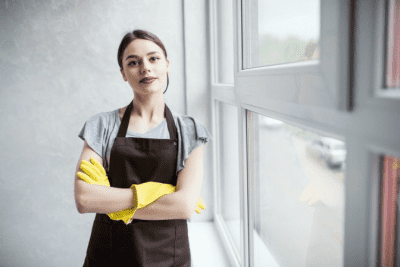Should Employees Know What You Charge, House Cleaner Arms Crossed