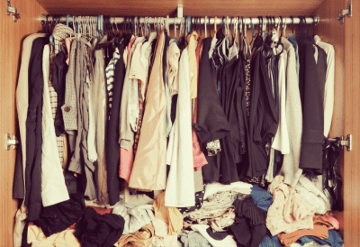 Too Much Stuff to Clean, Messy Closet