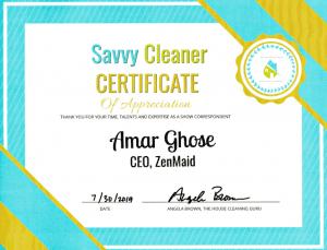 Amar Ghose, ZenMaid, Savvy Cleaner Correspondent