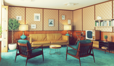 Rundown Apartment, Retro Living Room