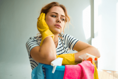 How to Get Your Cleaning Mojo Back, Sad Woman Thinking