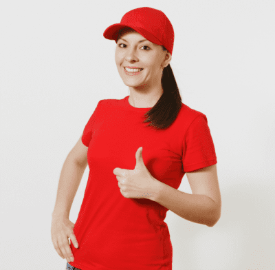 Logo Colors - What Do They Mean, Woman in Red Shirt