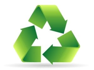 Permission to Toss, Recycle Logo