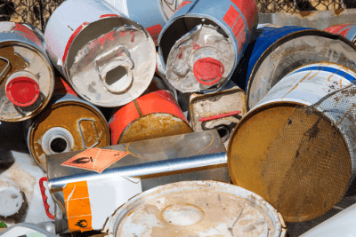Trash in Other People's Dumpsters, Dumped Paint Cans