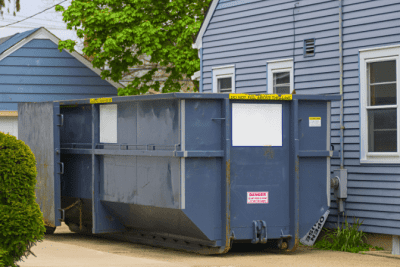 Trash in Other People's Dumpsters, Dumpster By House