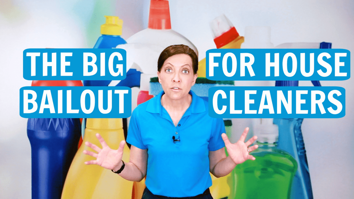 The Big Bailout for House Cleaners, Angela Brown, Savvy Cleaner