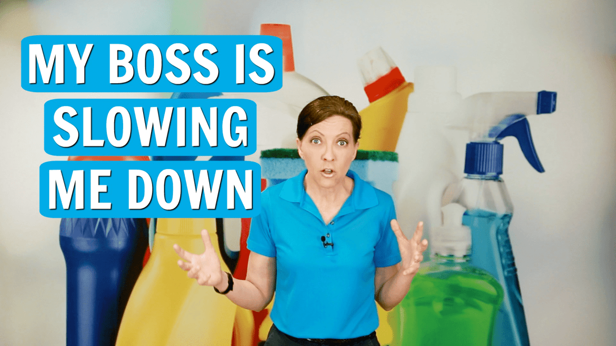 My Boss is Slowing Me Down, Angela Brown, Savvy Cleaner